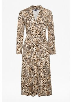 Animal Print Slinky Jersey Dress