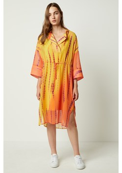 Tie Dye Belted Shirt Dress