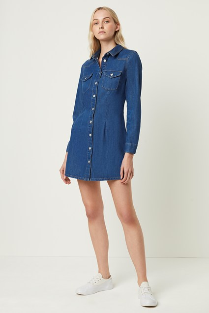 Letty Western Denim Dress