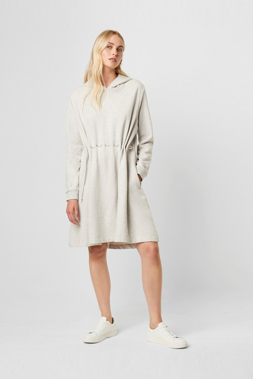 santino drawstring hooded dress