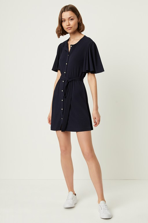 serafina slinky jersey belted dress