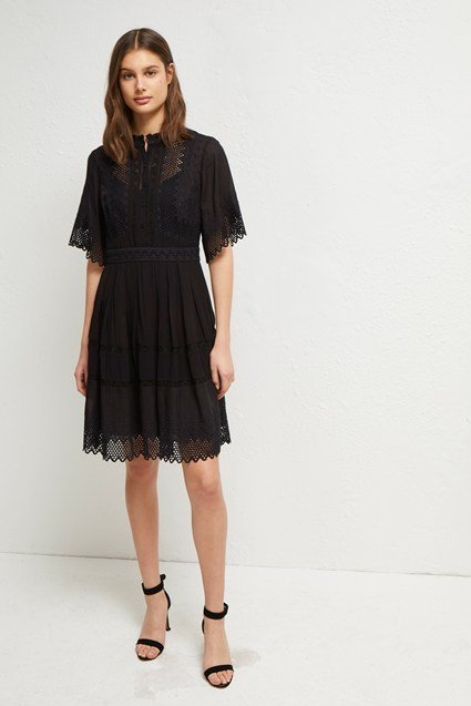 Drina Lace Embroidered Dress