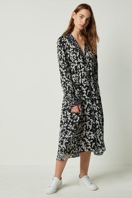Bruna Light Midi Floral Shirt Dress