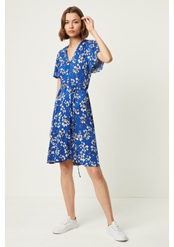 Rachelle Meadow Belted V Neck Dress