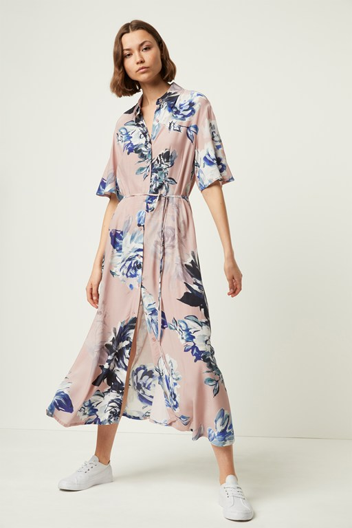 a5981bb8fa4 corsetta drape maxi shirt dress