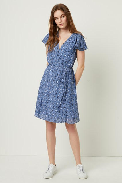 Agata Georgette Belted Wrap Dress