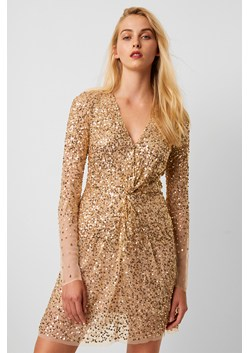 Emille Sequin Plunge Mini Dress