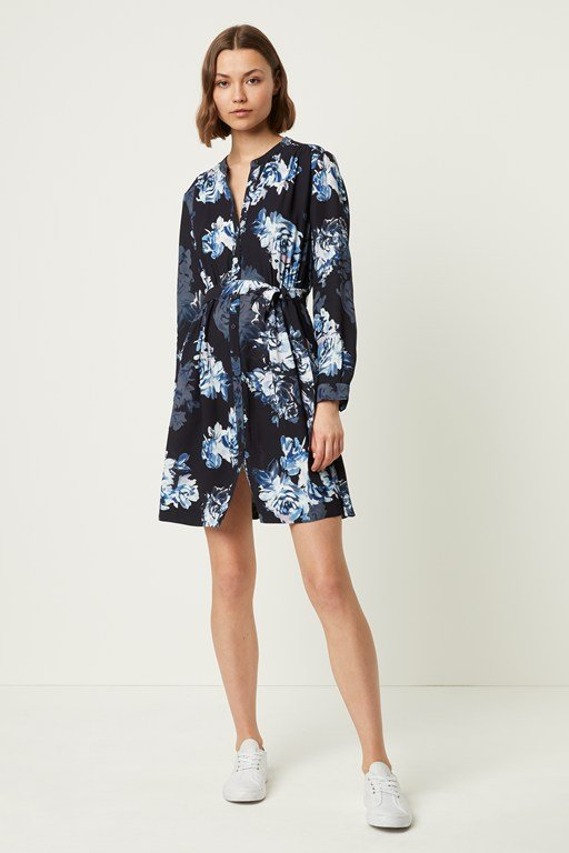 ebf5f39c2f5 caterina floral crepe shirt dress