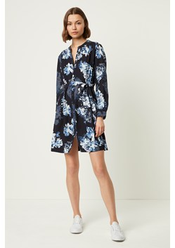 Caterina Floral Crepe Shirt Dress