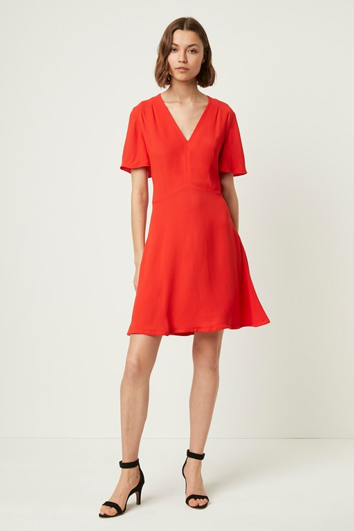 galane essian crepe v neck dress