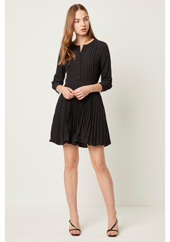 Erika Crepe Pleated Button Through Dress