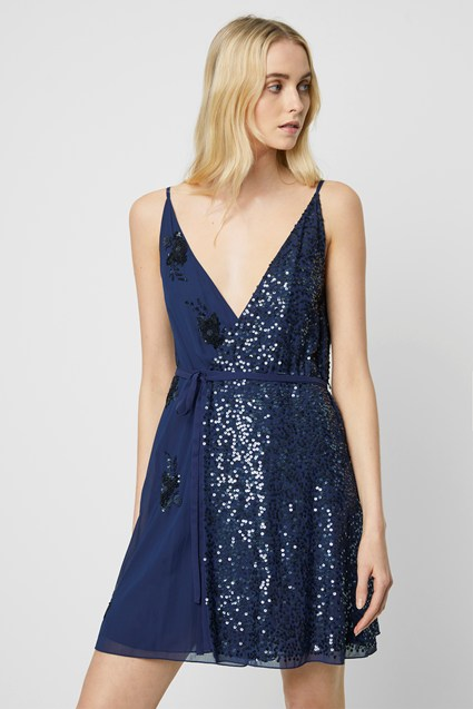 Aurora Embellished Wrap Dress