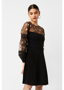 Paulette Embroidered Balloon Sleeve Dress