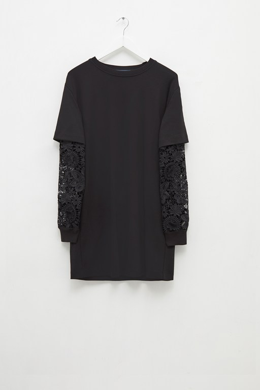 sabinne lace sleeved dress