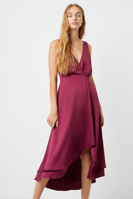 Alessia Satin Wrap Dress
