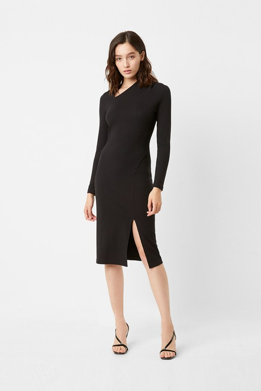 beata ponte asymmetric neck dress