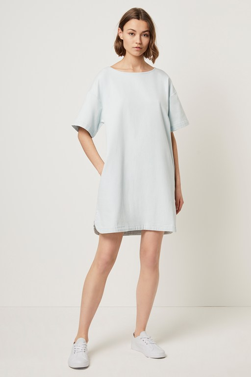 marissa denim shift dress
