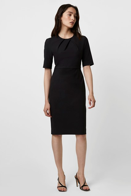 Freya Glass Stretch Pleated Neck Dress
