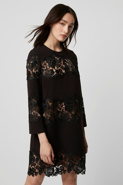 Fenya Lace Mix Shift Dress