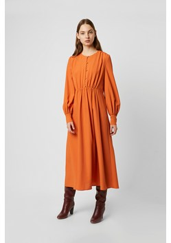Essi Crepe Round Neck Midi Dress