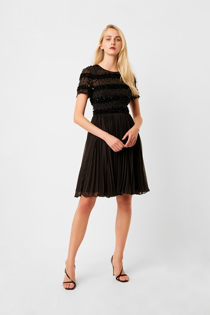 Brooke Sparkle Embellished Pleated Dress