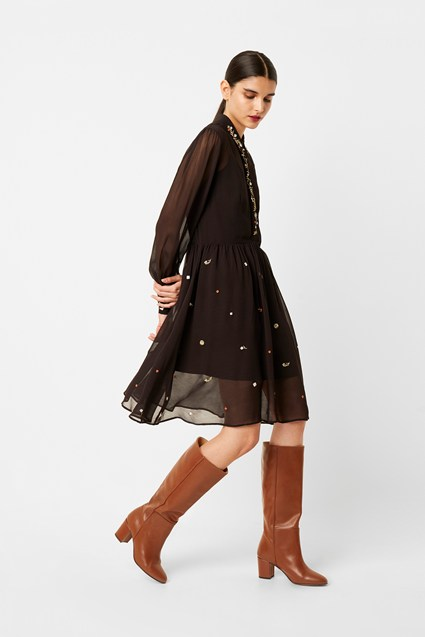 Danna Embroidered Shirt Dress