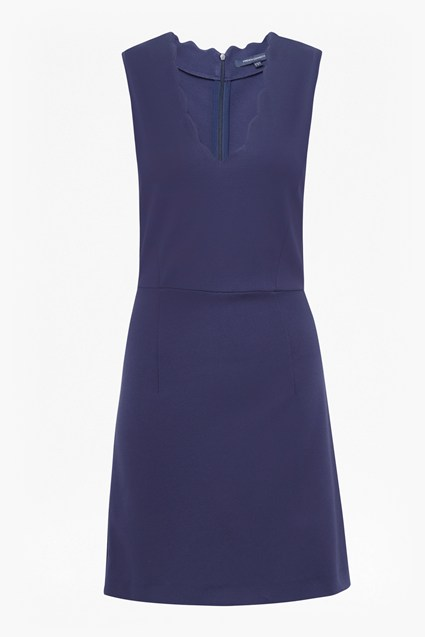 Lula Scallop V Neck Dress
