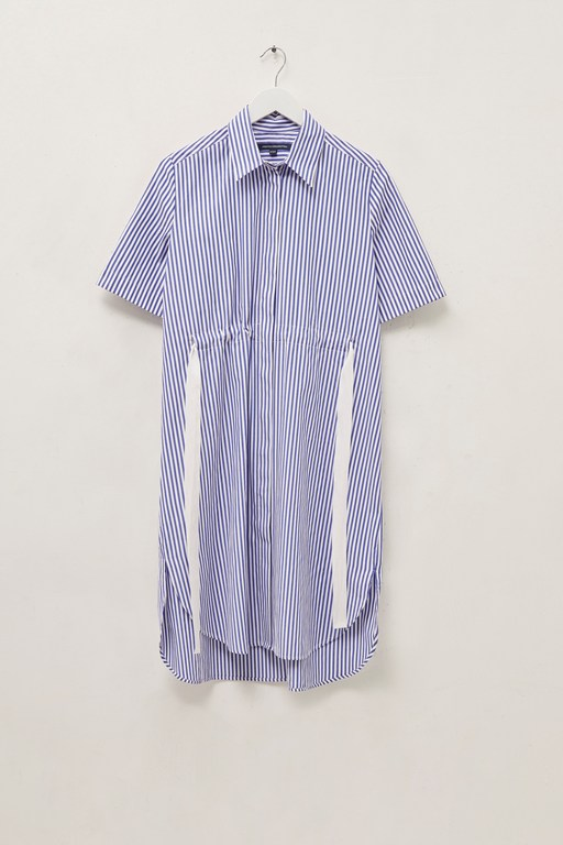 elna stripe shirt dress