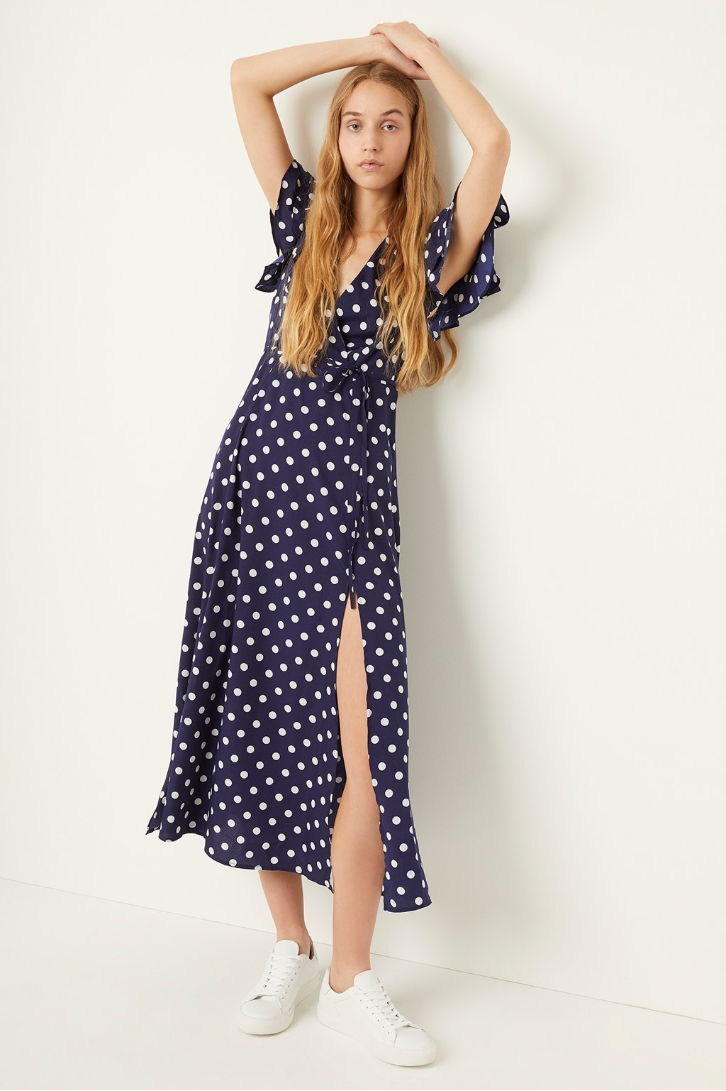 Polka Dot Midi Tea Dress | Collections | French Connection