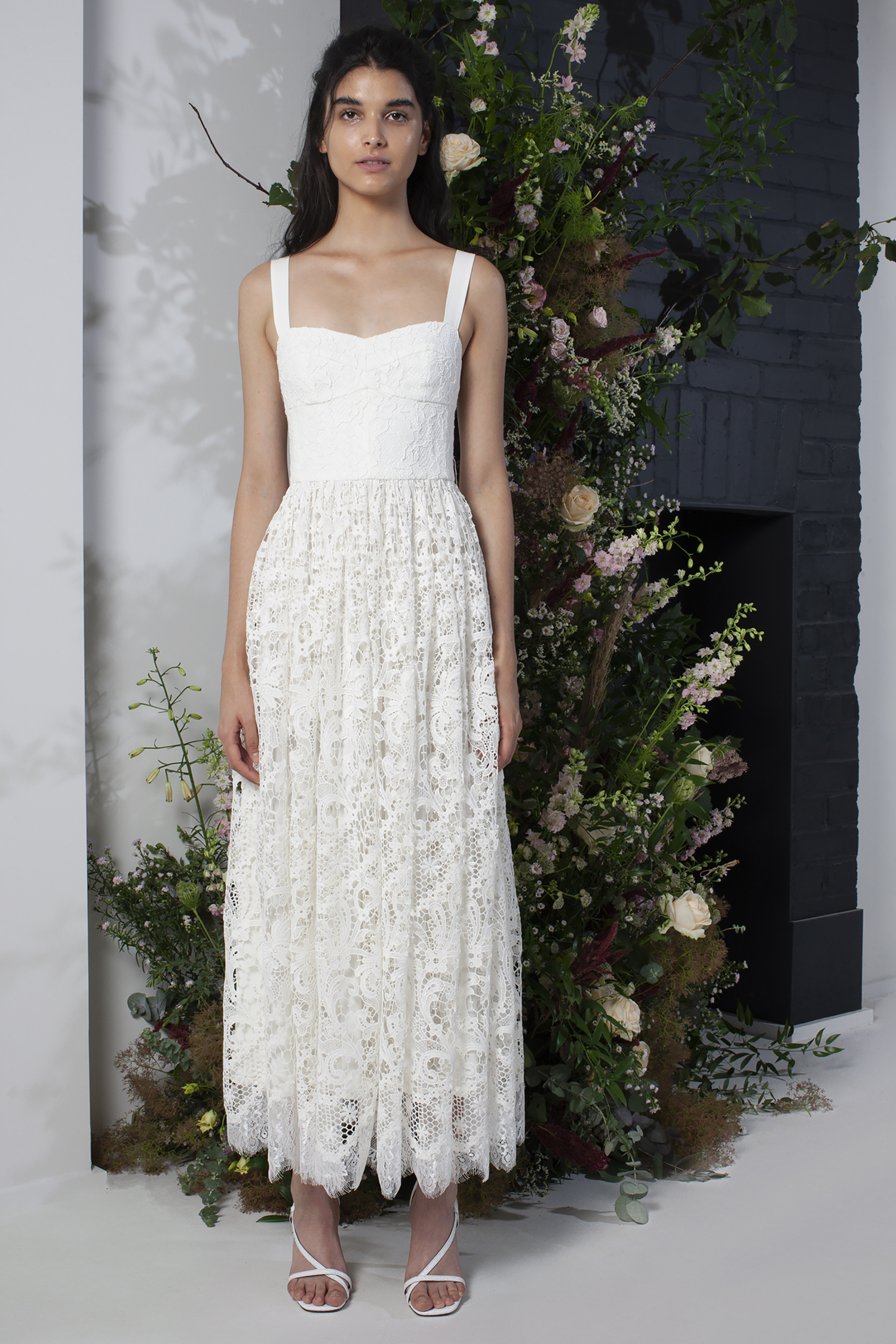 Eliza Lace Fit And Flare Wedding Dress Collections French Connection