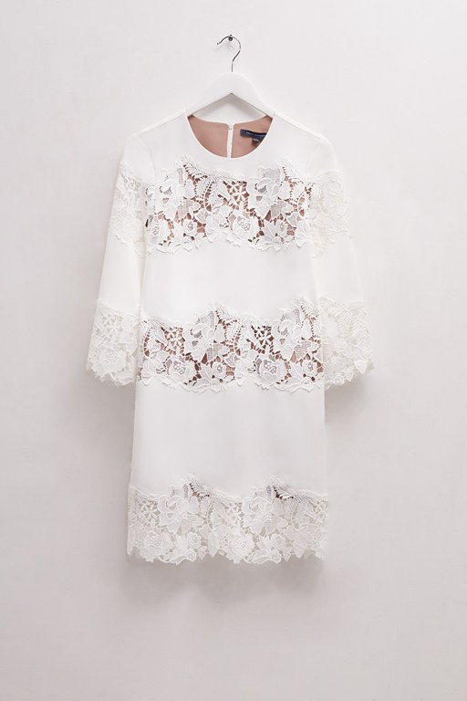 fenyala lace mix lace panel dress