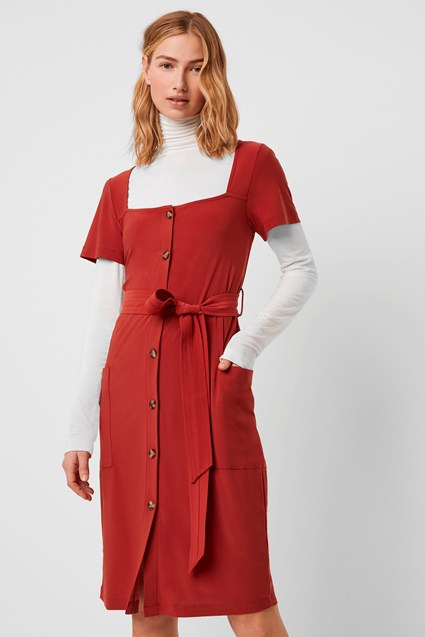 Shanika Slinky Square Neck Dress