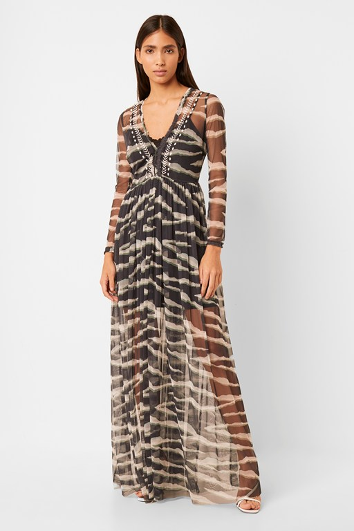akello embroidered maxi dress