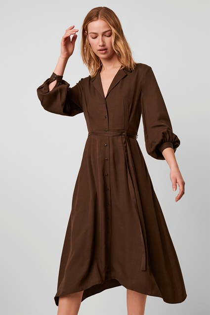 Hadiya Drape Shirt Dress