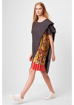 Eloise Drape Printed Pleated dress