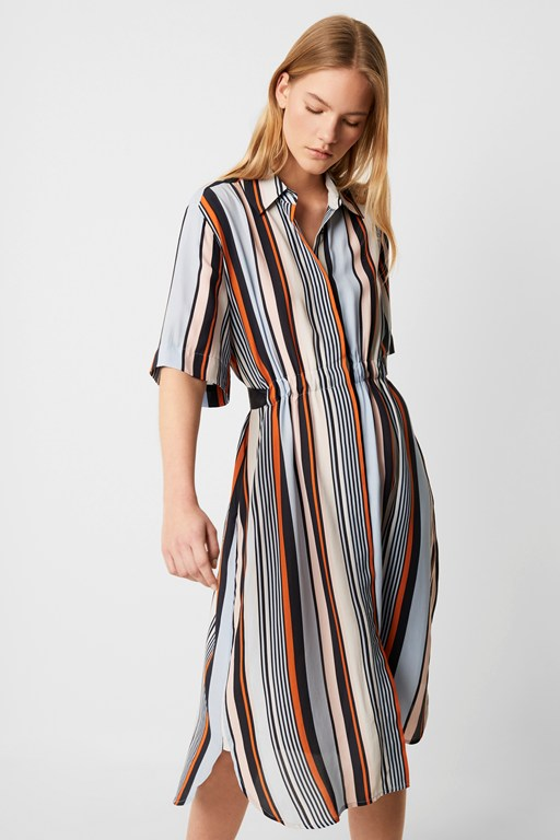 byatt drape striped shirt dress