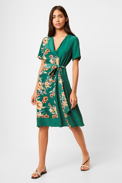 Claribel Belted Drape Dress