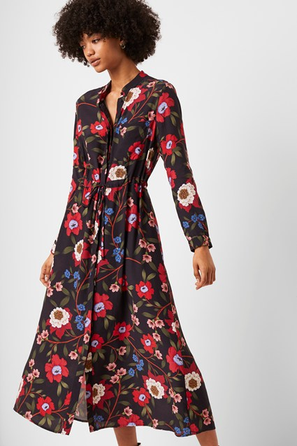 Eloise Drape Midi Shirt Dress