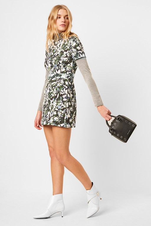 Complete the Look Enid Stretch Print Fit and Flare Dress