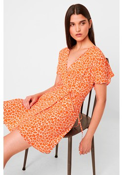 Etta Kiss Print Neon Short Sleeve Dress