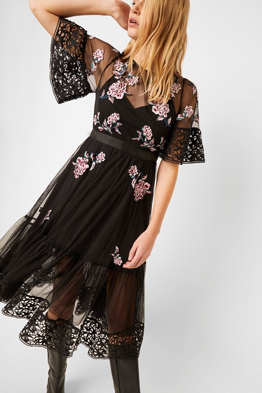ambre embroidered floral dress