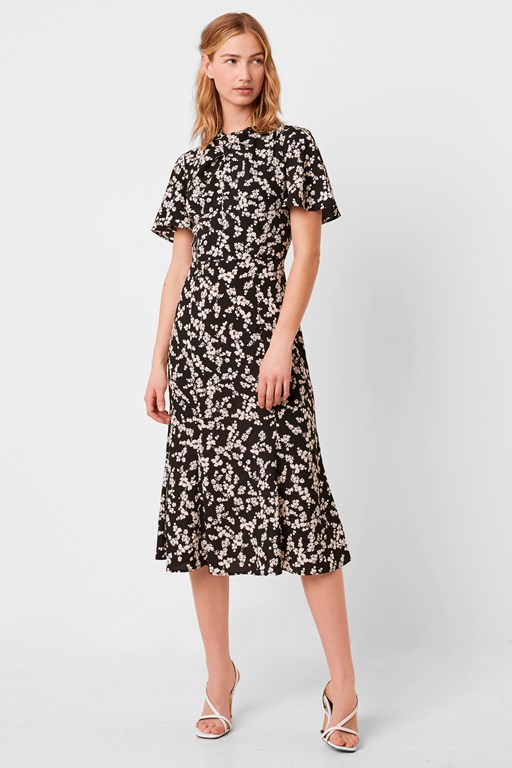 bruna light twist neck dress