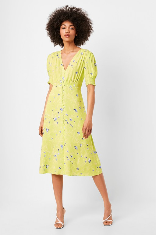 ambar drape midi tea dress