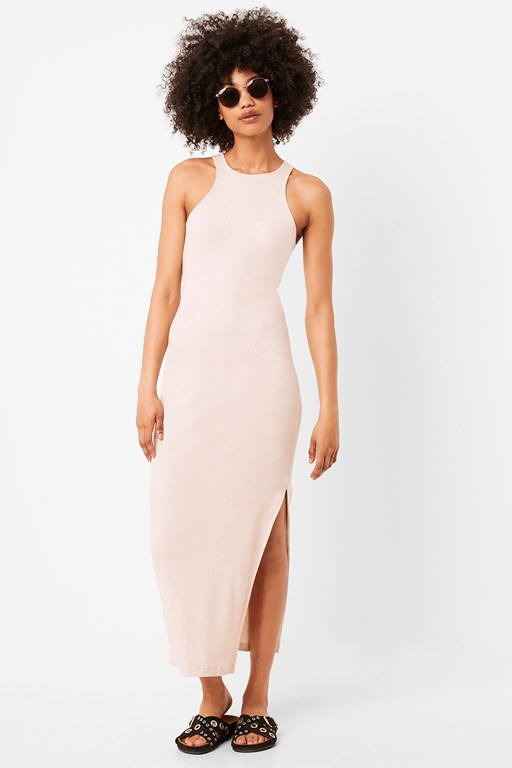 rasha ribbed jersey bodycon midi dress