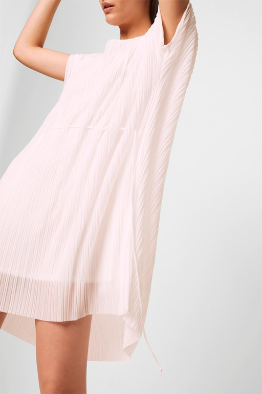 piya pleated jersey drawstring dress