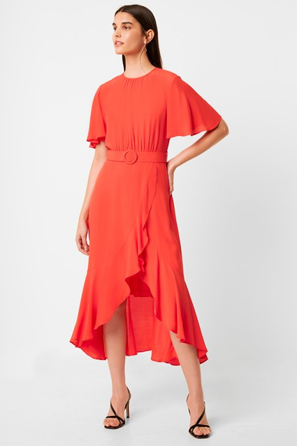 Emina Drape Belted Dress