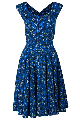 Electric Meadow Flare Dress