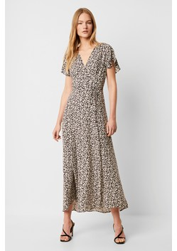 Aubi Rayon V Neck Maxi Dress