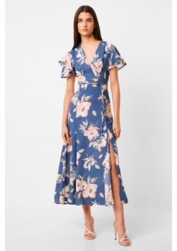 Verona Drape Midi Floral Tea Dress