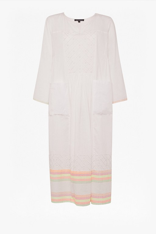 arina embroidered smock dress